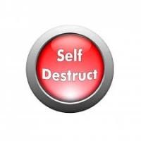 Press its self-destruct button