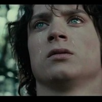 The end when Frodo remembers what Gandalf said to him and with these words Frodo gets courage to continue with his quest