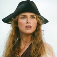 Elizabeth Swann (Keira Knightley in The Pirates of the Caribbean at The World's End)
