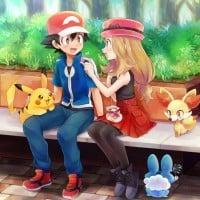 Ash and Serena - Pokemon