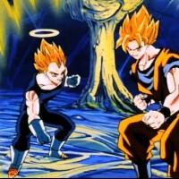 Goku and Vegeta go Super Saiyan and kill her
