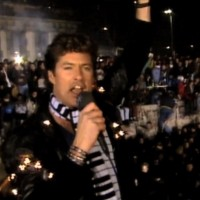 David Hasselhoff's performance at the Berlin Wall is a much remembered moment of the 80s