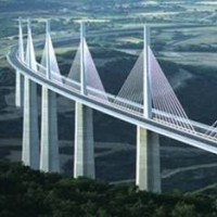 Millau Bridge, Massif Central Mountains, France